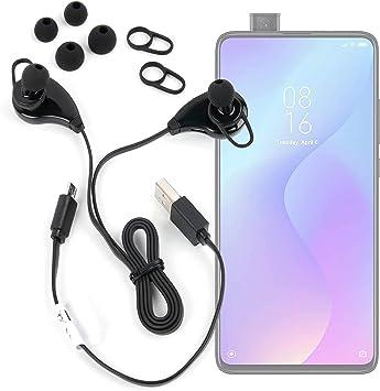 DURAGADGET Auriculares inalámbricos inalámbrico en Color Negro Compatible con Smartphone Xiaomi Mi 9T Pro, REALME 5, REALME 5 Pro: Amazon.es: Electrónica