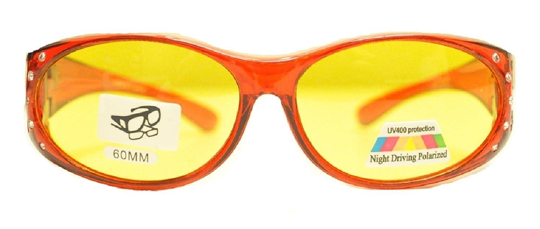 318fa9d8bd Amazon.com  Colorful Rhinestone Night Driving Polarized Fit Over Glasses