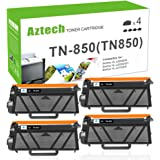 Aztech Compatible Toner Cartridge Replacement for Brother TN850 TN-850 TN 850 (Black, 4-Packs)