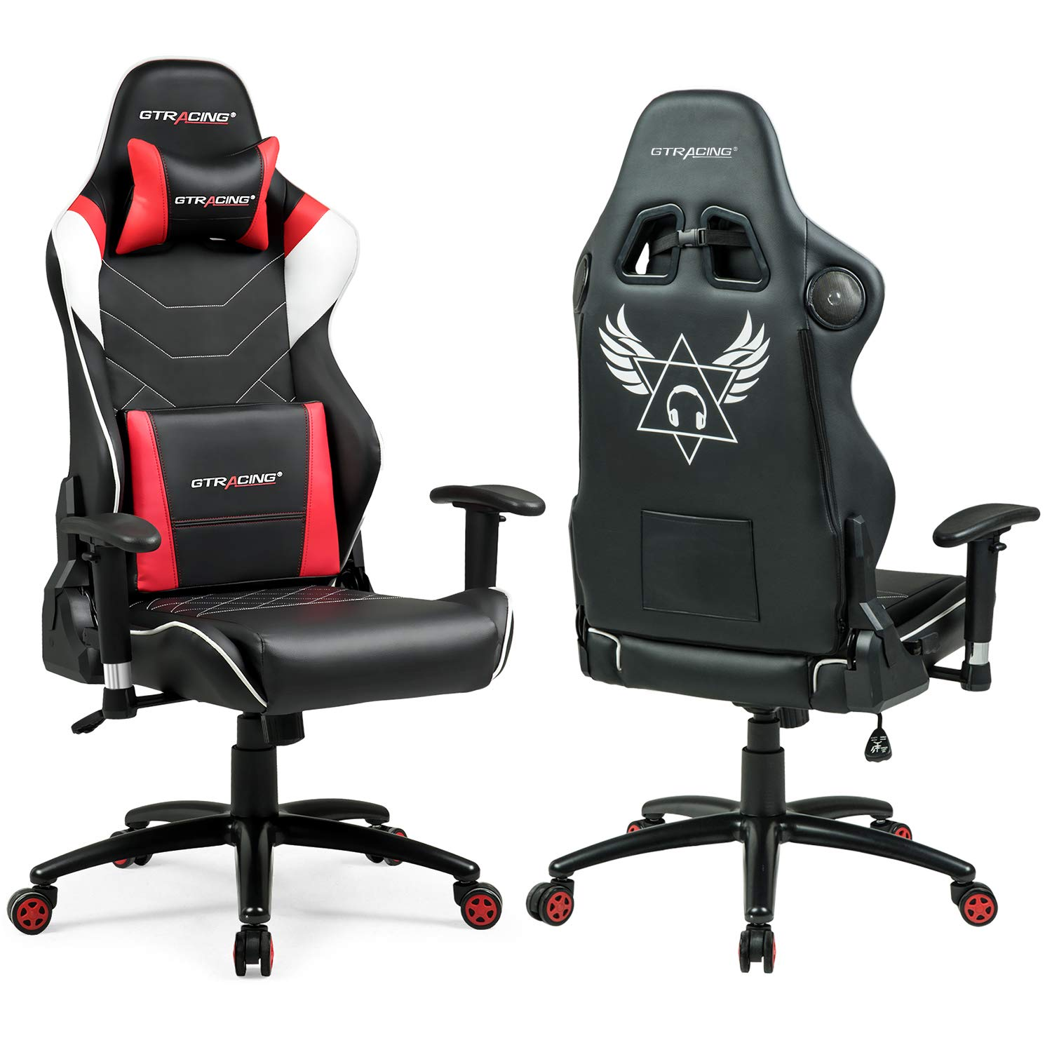 Office chair with speakers Unique Computer Gtracing Audio Gaming Chair With Bluetooth Speakerpatented Music Racing Office Chair Heavy Duty 400lbs Ergonomic Esports Chair For Pro Gamer Gt899 Red Amazoncom Amazoncom Gtracing Audio Gaming Chair With Bluetooth Speaker