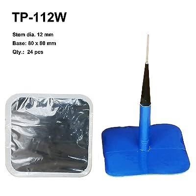 """Zerint TP-112W Combination Repair Unit, Tire Repair Patch Plug 1/2"""" x 3 1/8"""" Wrapped stem 24 pcs: Automotive"""