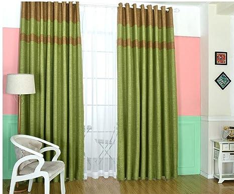 Gymnljy tenda minimalista moderno di lino colore solido cucitura