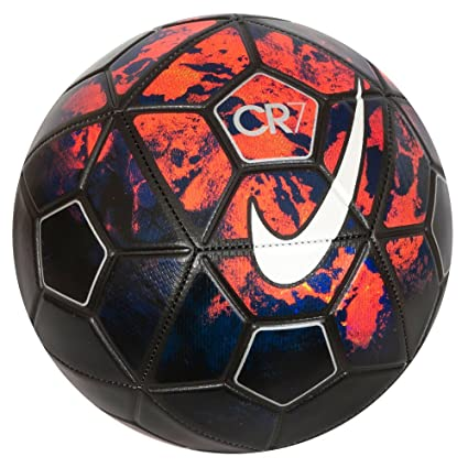 c0a86ed33cd2 Buy Nike Christiano Ronaldo Cr7 Prestige Lava Graphic/ Metal Silver Football  - 2015, Size-5 Online at Low Prices in India - Amazon.in