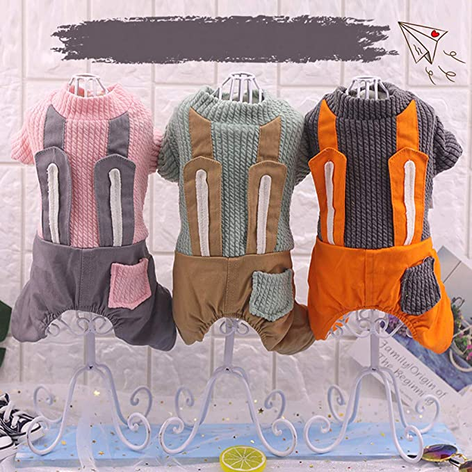 Amazon.com : Pet Puppy Rabbit Outfit Costume Dog Bib Vest Clothes Winter Sweater Jacket Coat Bunny Ears Small Dogs Cats : Pet Supplies