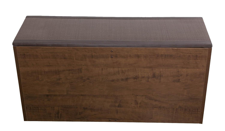 PP樹脂畳ユニット ベンチタイプ W90×D30×H45cm ブラウン PP-bnc-90BR B014KR1UUM 幅90cmタイプ|ブラウン ブラウン 幅90cmタイプ
