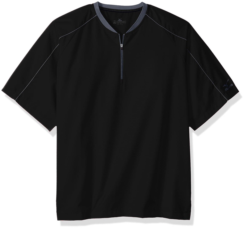 Mizuno Comp半袖中綿ジャケット B01IW41Z1I Small|ブラック ブラック Small