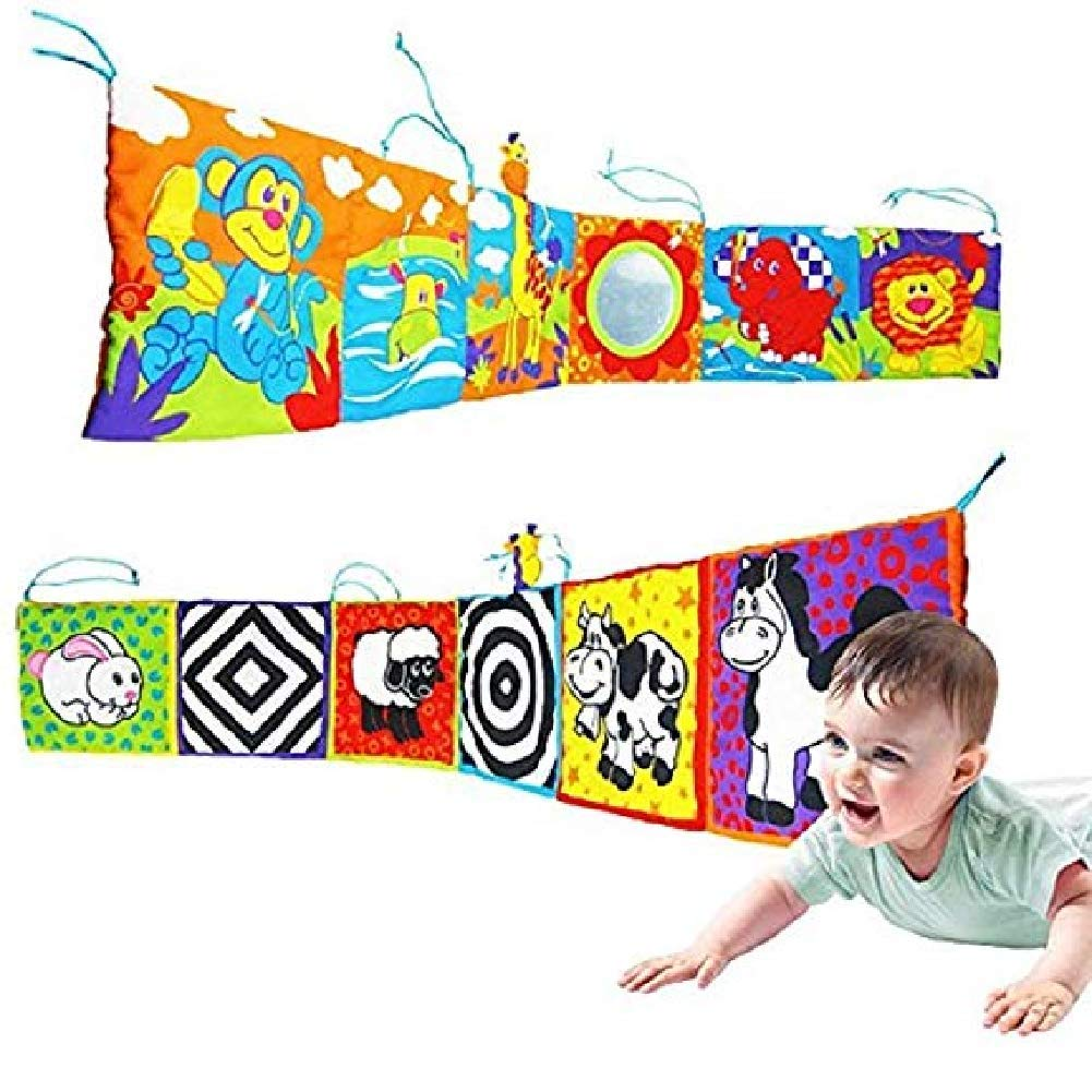 Sales promotion, quantity is limited.Infant Kid Baby Crib Gallery High-Contrast Development Puzzle Zoo Cloth Book Toy