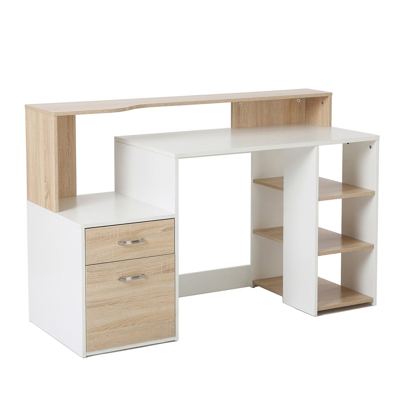 Office desk shelving Cheap Amazoncom Homcom 55 Amazoncom Amazoncom Homcom 55