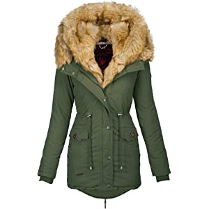 Navahoo 2in1 Damen Winter Parka Winterjacke warme Jacke