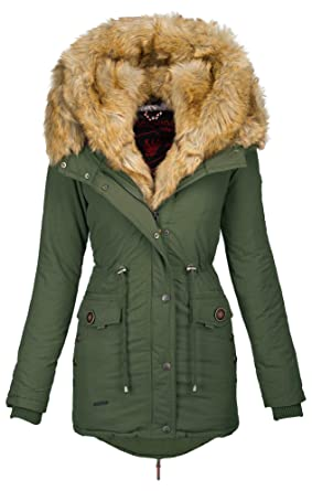 bd1ea2ff8934 Navahoo 2in1 Damen Winter Jacke Parka Mantel Winterjacke warm Fell B365   Amazon.de  Bekleidung