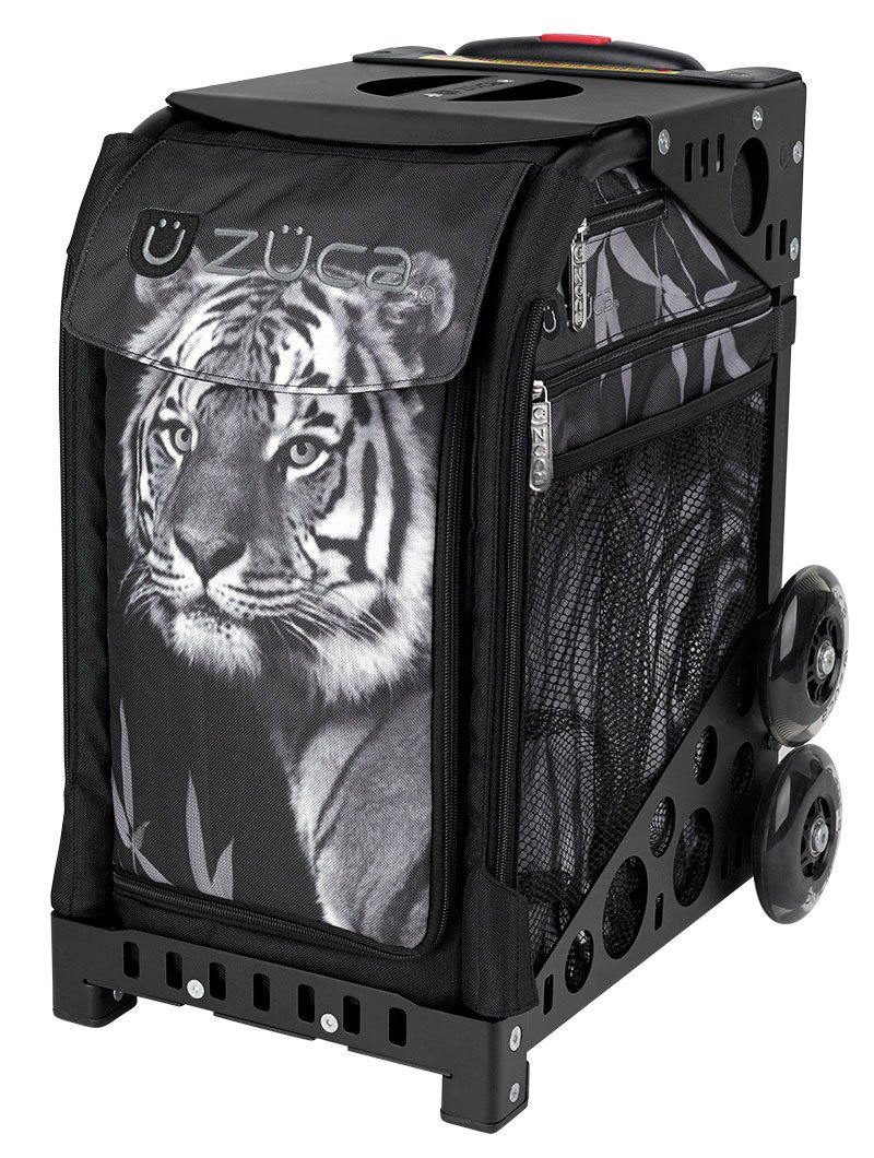 Zuca Tiger Insert Bag and Black Sport Frame with Tiger Lunch Box
