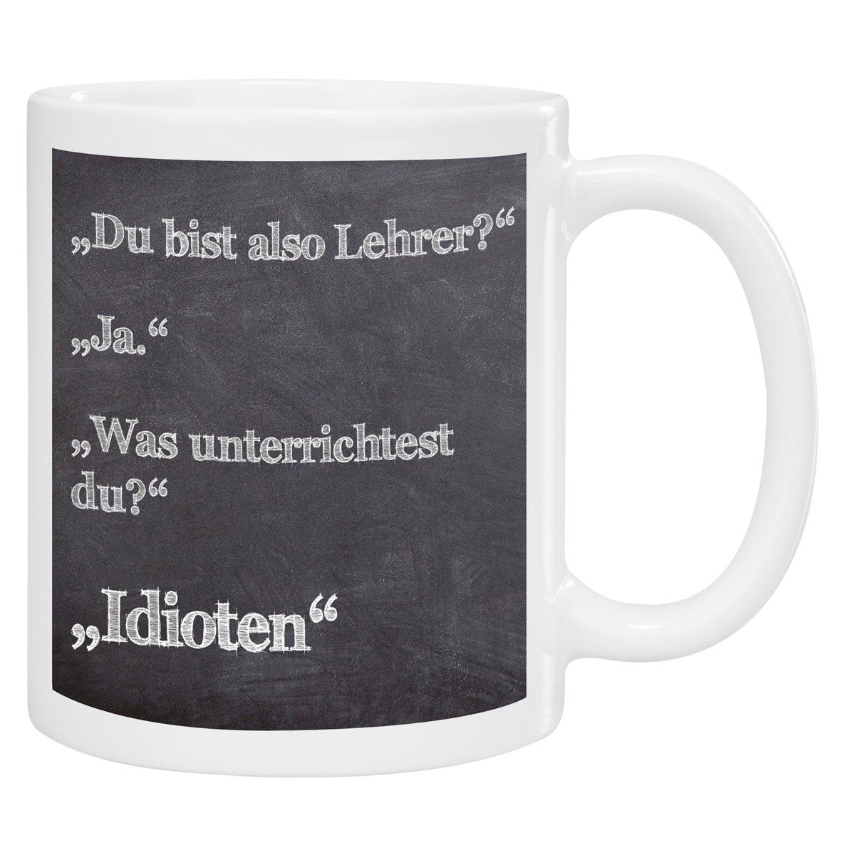 Tasse- Lehrer: Kaffeetasse bedruckt als Geschenkidee für Lehrer ...