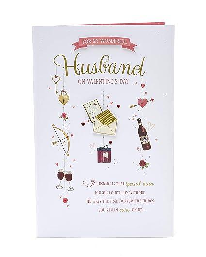 Tarjeta de San Valentín para marido, tarjeta de regalo ideal ...