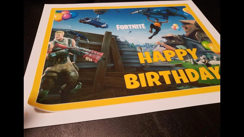 Fortnite - Decoración para tartas de cumpleaños, 1/4 hojas ...