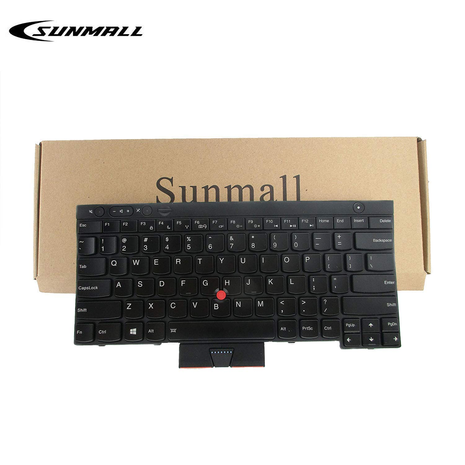 SUNMALL Keyboard Replacement with Pointer and Backlit, Compatible with Lenovo IBM ThinkPad T430 T430S T430I X230 X230T X230I T530 W530 (Not Fit T430U X230S)