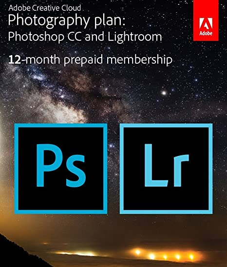 Adobe Creative Cloud Photography Plan with 20 GB : Photoshop CC + Lightroom  CC | 1 Year Licence | Online Invite & Download(CD)