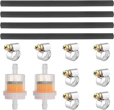 Wimas Standard Benzinschlauch Kit Motorrad Kraftstofffilter Schlauch Kit Vakuumröhre Inbegriffen 4pcs Durchmesser 6mm Kraftstoffleitung 2pcs 6 5mm Benzinfilter Und 8pcs Schlauchschellen Auto