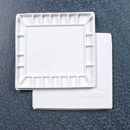 16 by 12-Inch Jack Richeson 22 Wells Plastic Palette with Cover