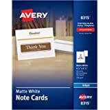 Avery Printable Note Cards Inkjet Printers 60 And Envelopes 425 X 55