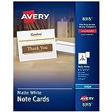 Avery Printable Note Cards, Inkjet Printers, 60