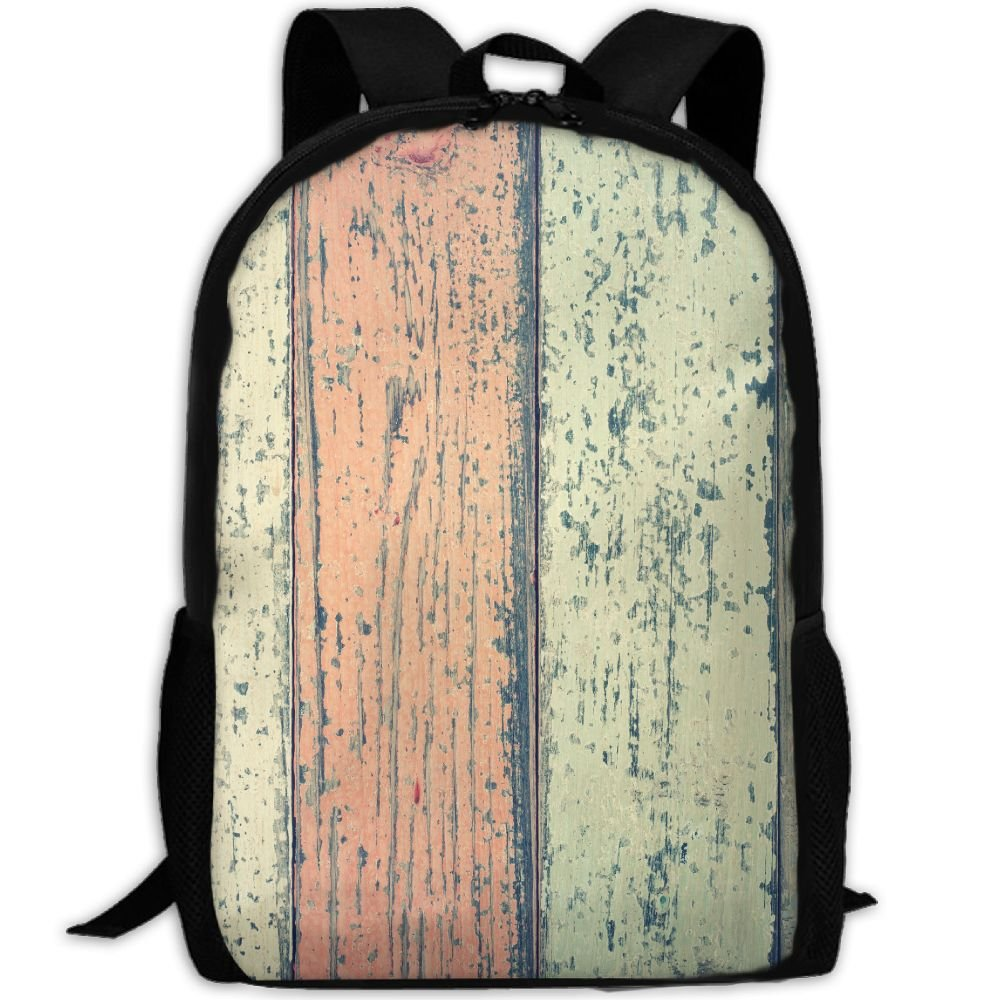 subensm抽象木製ヴィンテージグリーンレッドブルー木製Man & Womanバックパックデイパックフィットアウトドアバックパック旅行、ハイキング、キャンプ&カジュアル、大学、学校、ブックバッグ B07DR42PZL