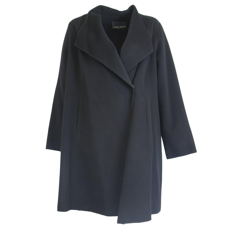 Black Marina Rinaldi Women's Teo Double Face Wool Jacket