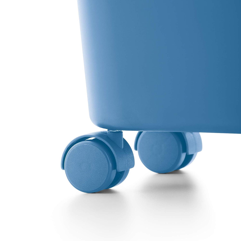 Mery Secchio con strizzatore Automatico in Polipropilene Acciaio 38.20 x 25.50 x 39 cm Blu