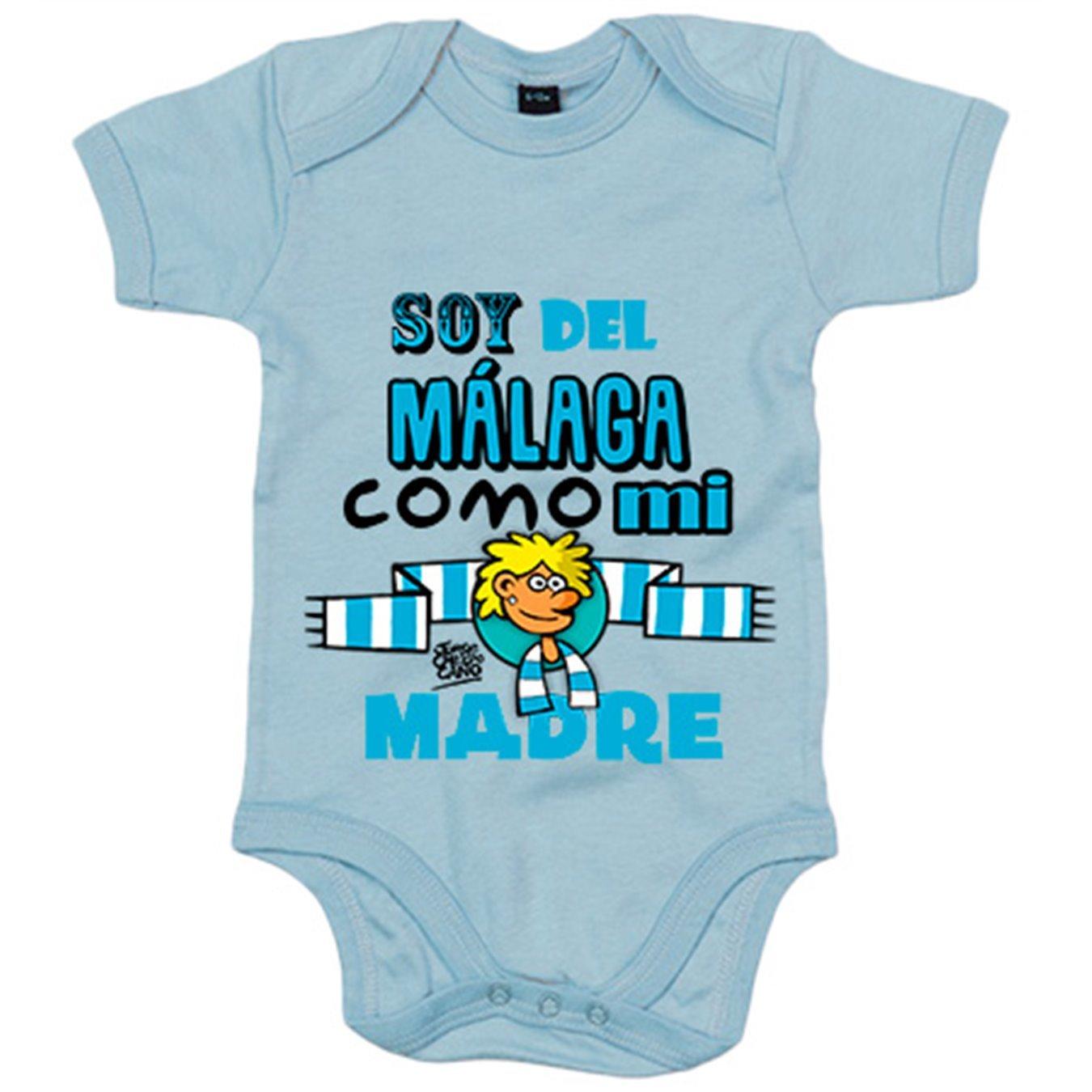 Body bebé soy del Málaga como mi madre Jorge Crespo Cano - Blanco, 6-12 meses: Amazon.es: Bebé