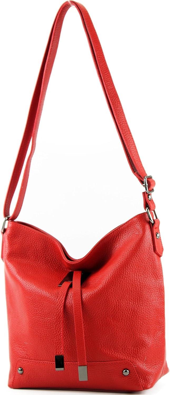 modamoda de - ital Umhänge- / cuero bandolera T169 Rojo