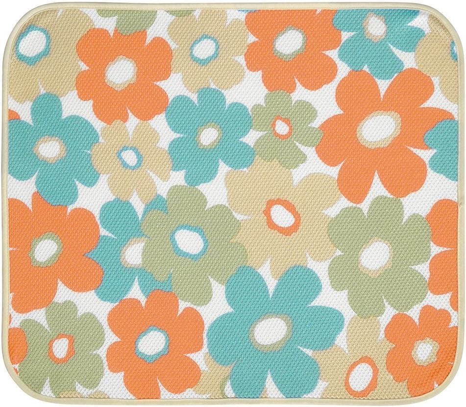 InterDesign iDry Tappetino Scolapiatti Assorbente Tessuto 47.52x40.64x0.2 cm Multicolore Grande