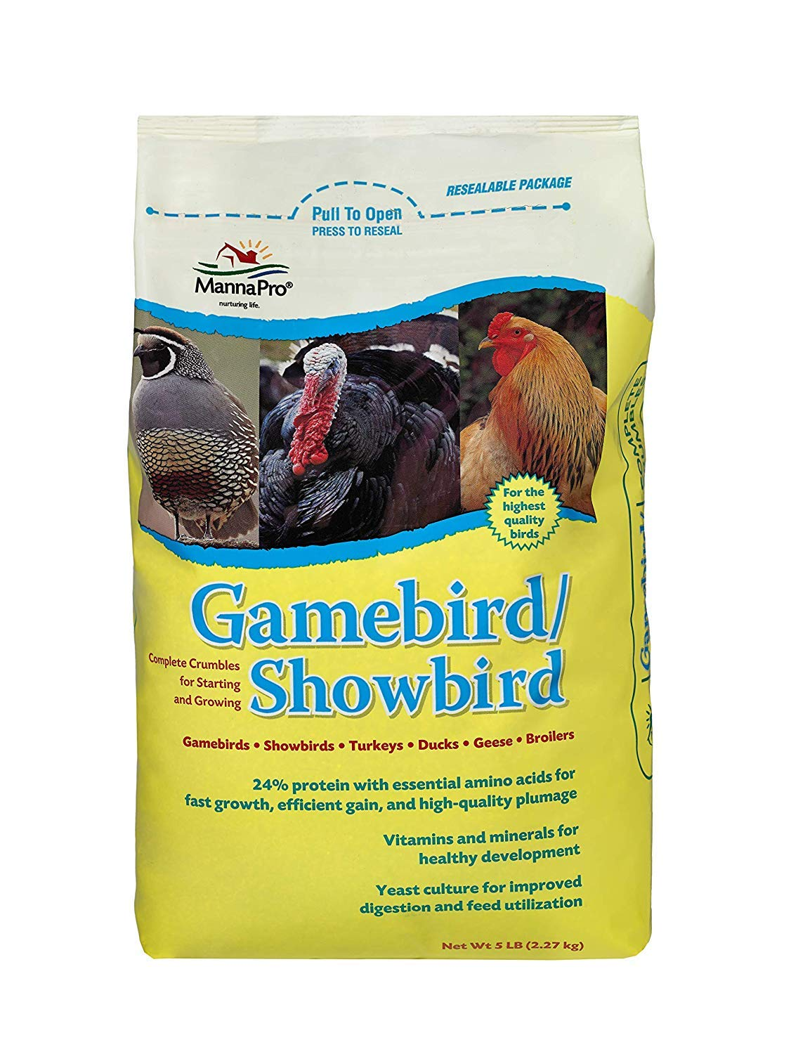 Manna Pro Gamebird Showbird Crumbles | Formulated with Vitamins & Minerals | 5 Pounds by Manna Pro