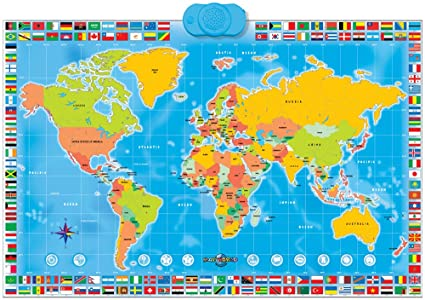 World Map Interactive Amazon.com: Zanzoon Map World   Interactive Talking World Map