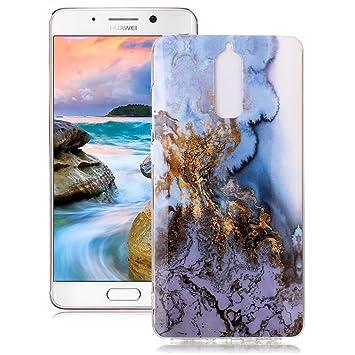 Yunbaoz Funda Compatible para Huawei Mate 9 Pro Mármol Soft Marble Case Textura Piedra Suave Flexible Anti-Rasguños Patrón Granito Carcasa Huawei Mate ...