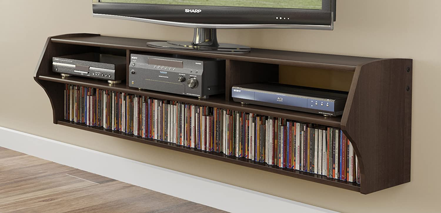 . amazoncom espresso altus plus  floating tv stand electronics