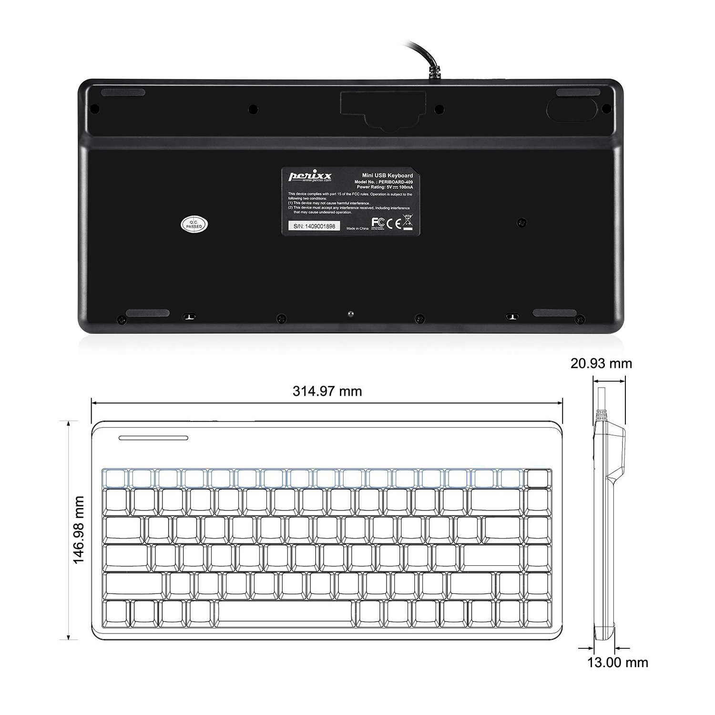 Perixx PERIBOARD-409 Mini Teclado Inglés (QWERTY Español): Amazon.es: Electrónica