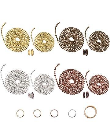 BronaGrand Lot de 200 fermoirs /à billes de 100 mm de diam/ètre 2,4 mm de diam/ètre