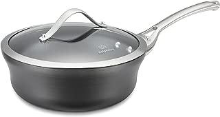 product image for Calphalon Contemporary Hard-Anodized Aluminum Nonstick Cookware, Shallow Sauce Pan, 2 1/2-quart, Black