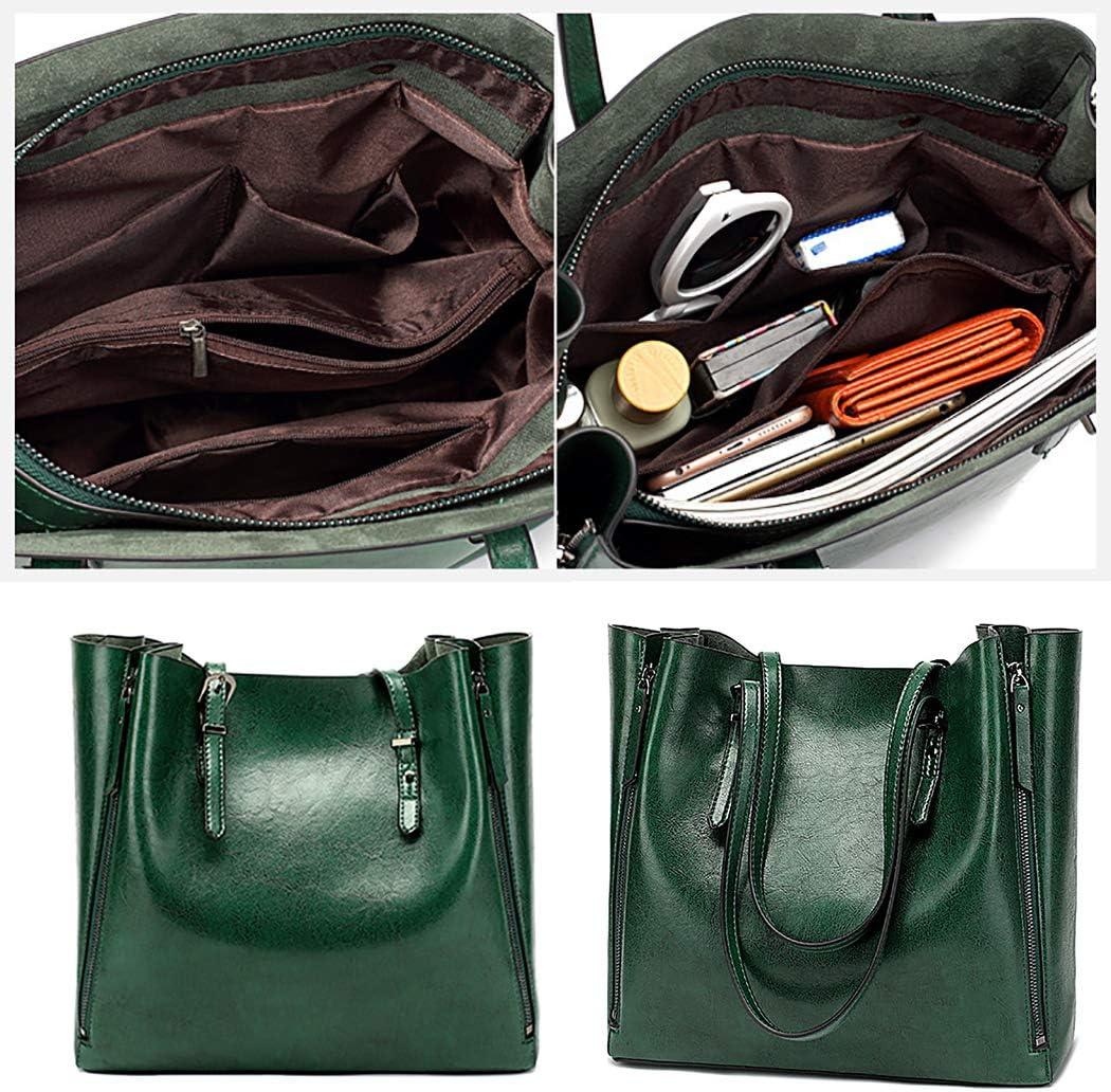 COAFIT Womens Tote Bag Zipper Large Tote Handbag Shoulder Bag for Outdoor Dark Red