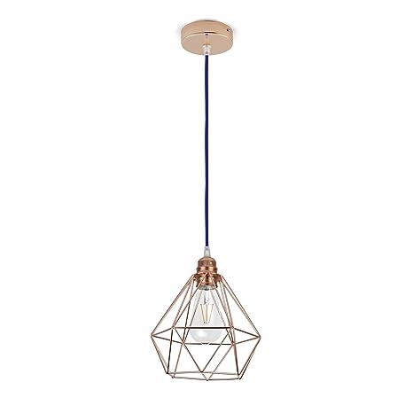 Lámpara de techo, con pantalla de diamante con bastidor de ...
