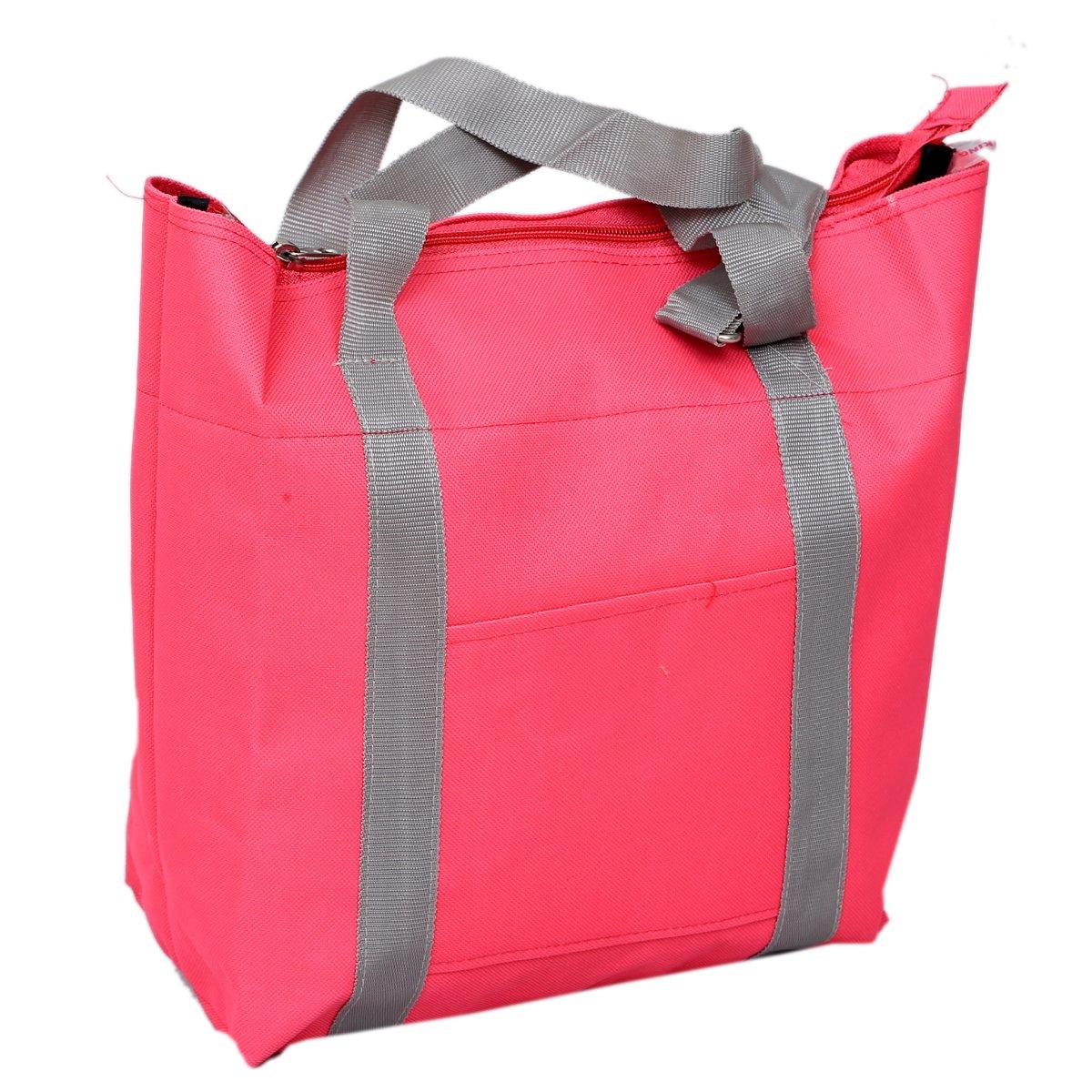 Kuber Industriesキャンバススタイリッシュなスリングバッグ、ピクニック、ショッピングバッグ、ハンドバッグ(ピンク) – ki19454 B072HG5KQZ