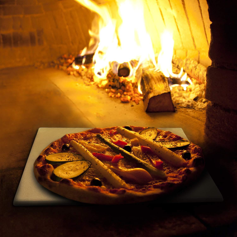 KLAGENA AS-626 Juego de Piedra para Pizza para Horno y Parrilla ...