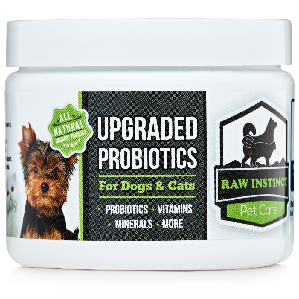 Best Probiotics For Dogs By Raw Instinct - Upgraded Blend Promotes Healthy Digestion, Immune System, Diarrhea Relief - With Organic Icelandic Kelp For Thyroid Support And Healthy Skin!
