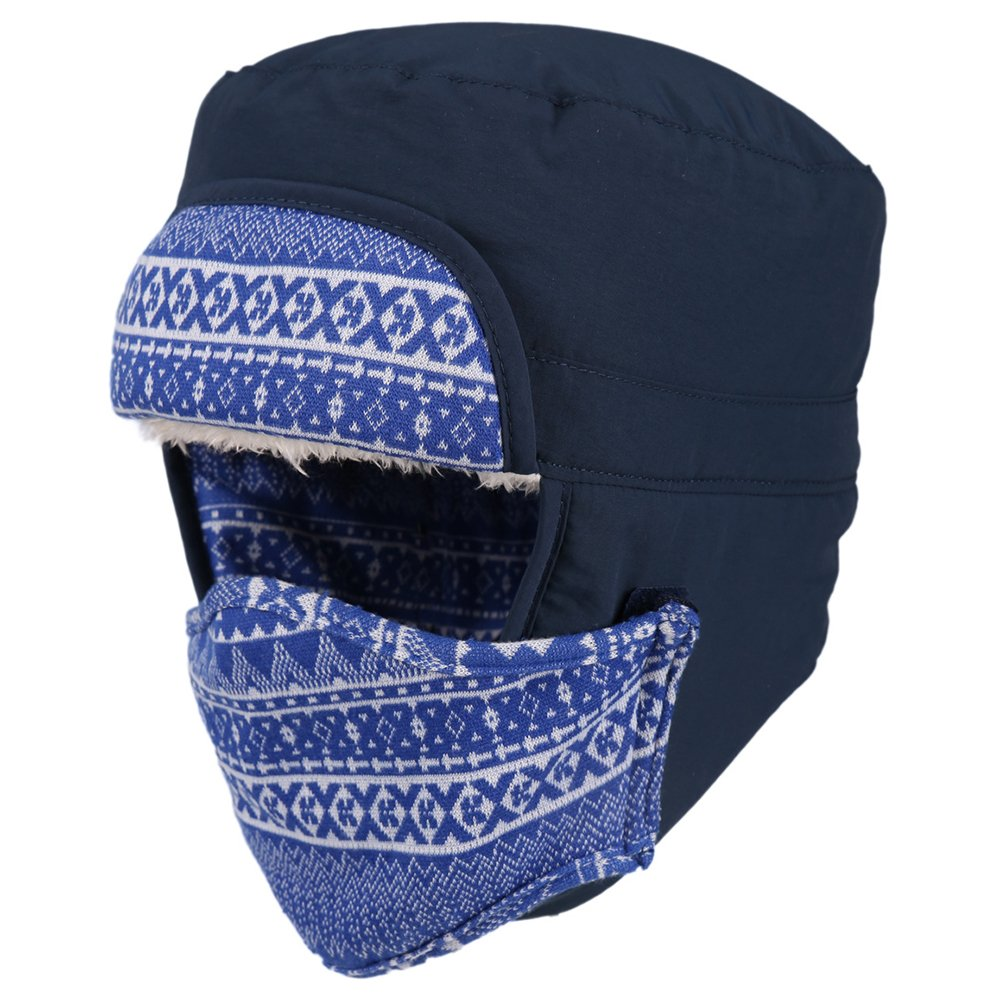 Mirah June Unisex Men and Women Warm Winter Ear Flap Ski Hat Blue