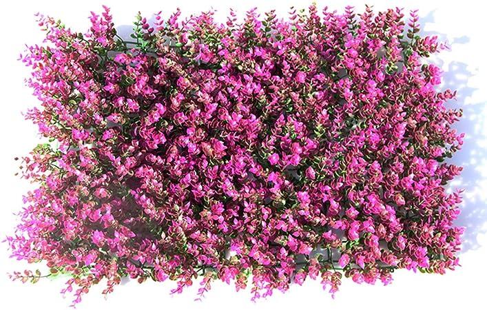 2 Cercas De Eucalipto Artificial, (60 Cm × 40 Cm) Césped Tiras De Imitación Verdor Pantallas De Privacidad Fondo Verde Contexto Plástico Jardín Cerramiento Falso Estera Panel Enrejado Pared Decorati,Purple: Amazon.es: Hogar