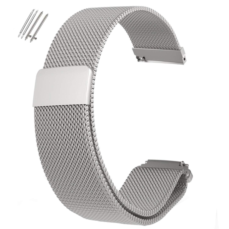 Adallor 18 20 22 24 mm Correa de Reloj, Magnéticas Milanese ...