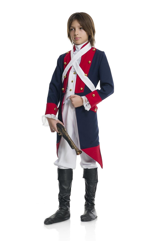 Amazon.com: Disfraz de soldado revolucionario para niños, XS ...