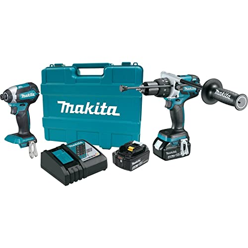 Makita XT267M 18V LXT Lithium-Ion Brushless Cordless 2-Pc. Combo Kit 4.0Ah ,