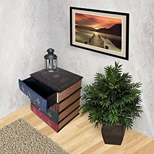 Vogue Side Table with 4 Drawers, HY2A239