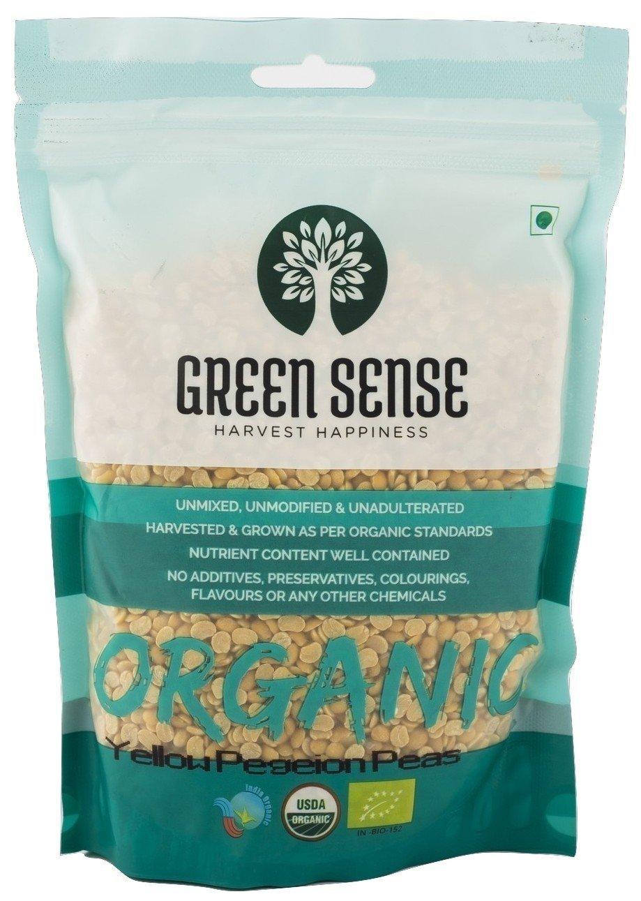 Organic Toor Dal (Yellow Pigeon Peas - Arhar Dal) 2 Pounds, USDA Organic, Non-GMO - Green Sense