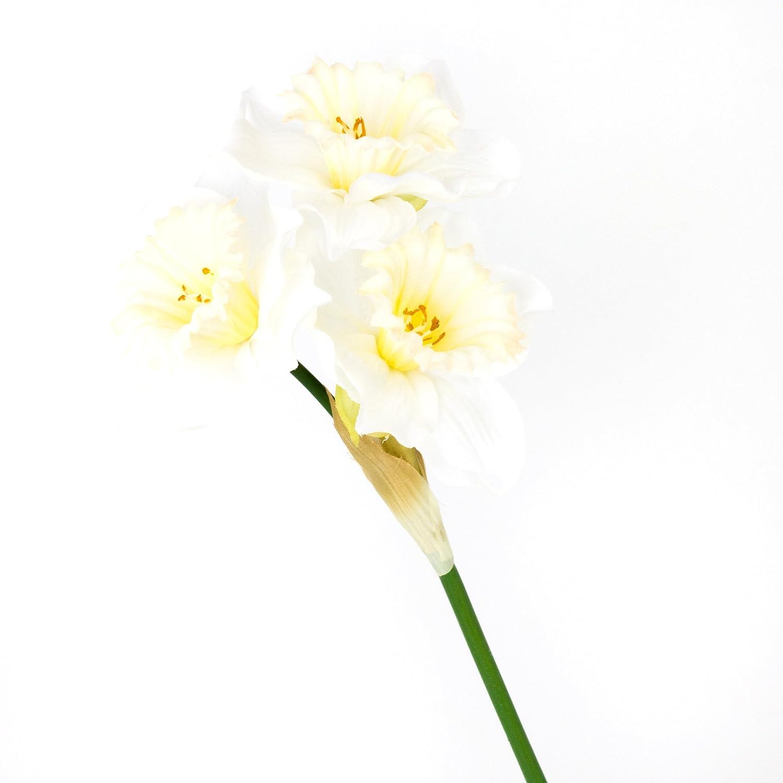 5 x  Osterglocken  Narzissen gelb  Kunstblumen Neu